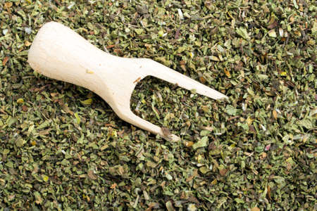 bactericidal: Cistus incanus - dried herb Stock Photo