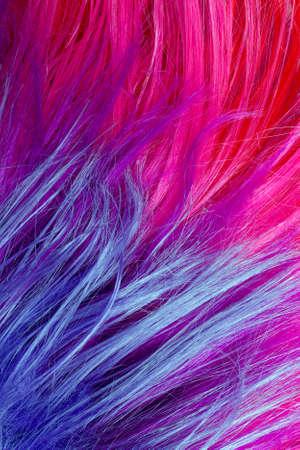 texture capelli: colorful artificial hair texture Archivio Fotografico
