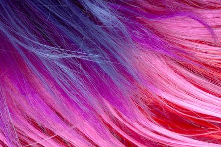 artificial hair: colorful artificial hair texture Foto de archivo