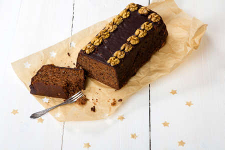 gingerbread cake: gingerbread cake on a wooden table Stock Photo
