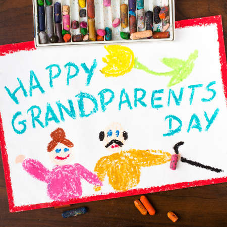 love image: Colorful drawing: grandparents day card