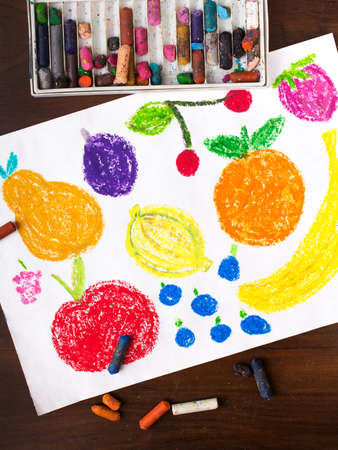 miscellaneous: Color drawing: miscellaneous types of fruits