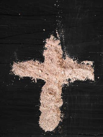 arrepentimiento: Cruz de ceniza - símbolo del Miércoles de Ceniza