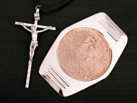 wednesday: cross and ash - symbols of Ash Wednesday