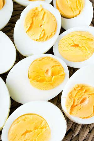 hard boiled: sliced hard boiled eggs