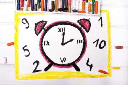 alarm clock: Colorful drawing: Alarm Clock