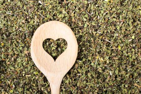 radical love: closeup of a Cistus incanus - dried herb Stock Photo