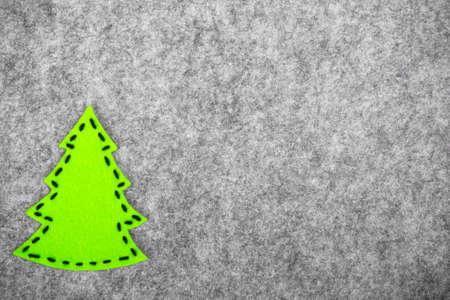 Christmas background with felt decorations Stock Photo