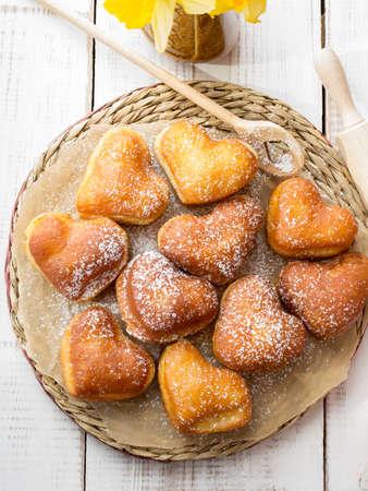 shaped: heart shaped donuts Stock Photo