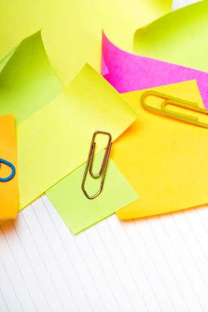 sticky notes: School background with colorful sticky notes Stock Photo