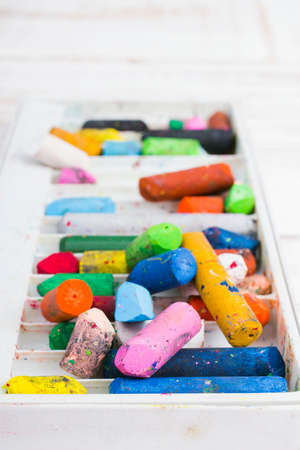 oil pastels: oil pastels in a box