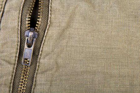 field depth: closeup of a metal zipper - shallow depth of field
