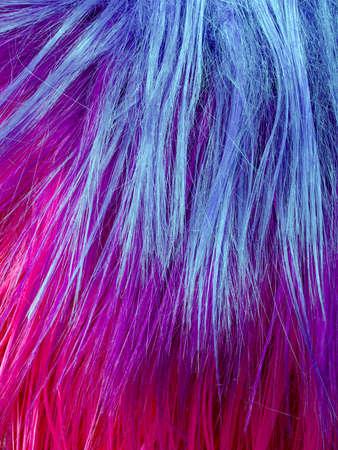 artificial hair: colorful artificial hair texture Stock Photo