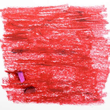 oil pastels: red background - oil pastels drawing