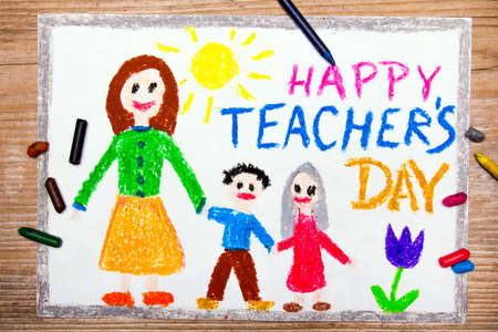 Colorful drawing - Teachers Day card