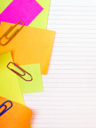 School background with colorful sticky notes Stock Photo
