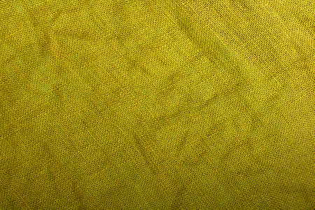 yellow linen texture for background Stock Photo