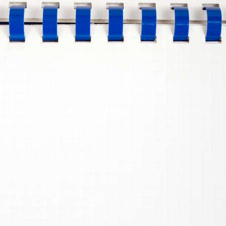 workbook: white workbook background, open ring binder