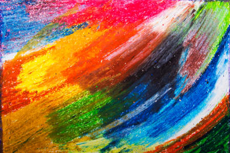 colorful oil pastels drawing texture for background Stock Photo