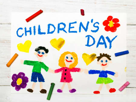 Colorful drawing: Children's day card