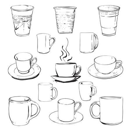 Cups set 矢量图像