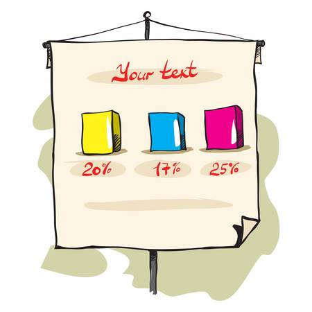 flipchart: Flip chart with some diagrams