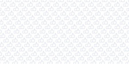 Lichte achtergrond met patroon gegenereerd uit de hand getrokken illustratie van Like Hand pictogrammen