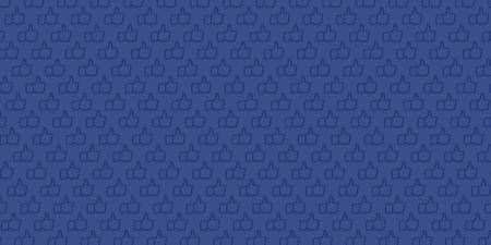 Dark background with pattern generated from hand drawn illustration of Like Hand icons
