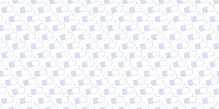 Light background with pattern generated from hand drawn illustration of Like Hand icons