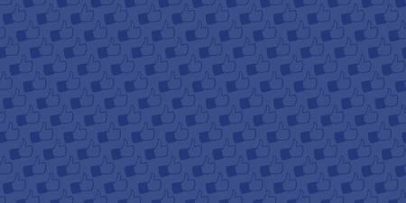 Donkere achtergrond met patroon gegenereerd uit de hand getrokken illustratie van Like Hand pictogrammen