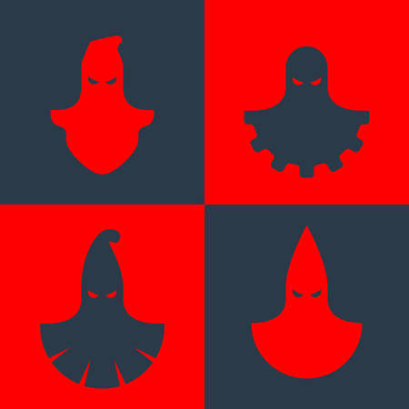 Set of vector icons of some executioner masks 矢量图像