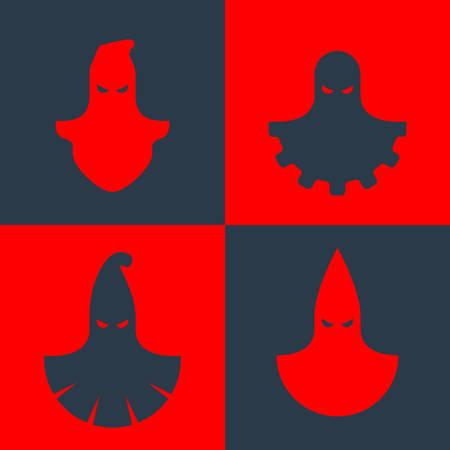 Set van vector iconen van enkele beul maskers