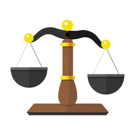 Vector Illustratie van de schalen van Justitie de Wet Balance Symbol Stock Illustratie