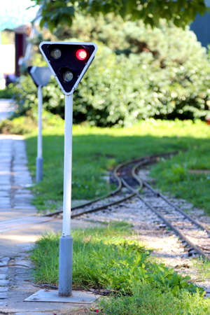 junction: Prohibited symbol in front of the gauge railway junction