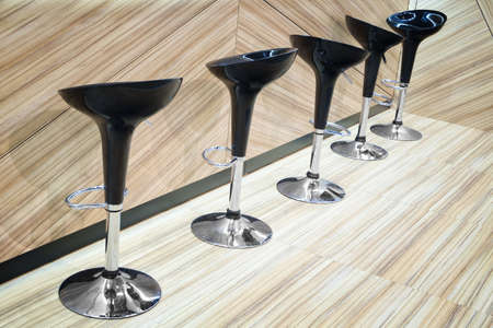 round chairs: bar or office black shiny round chairs