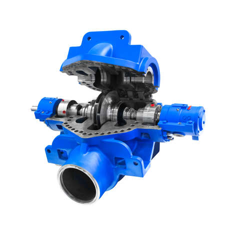 Pump compressor for oil transfer