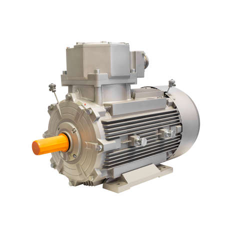 Industrial electric motor generator  isolated on white background