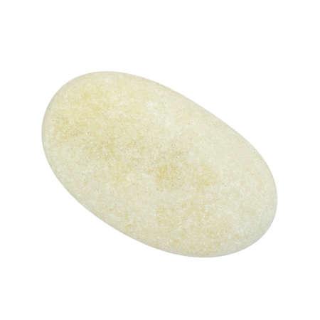 roundish: Pebbles, isolated on white background