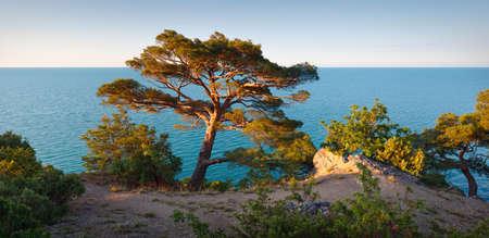 Panorama sea background Crimea Russia Banco de Imagens