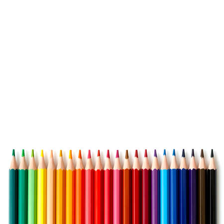 colored pencils series Stockfoto