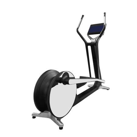 Luxury elliptical cross trainer isolated on white background