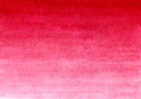 Vermelho artesanal pintado em aquarela fundo gradiente em papel texturizado Foto de archivo - 92358828