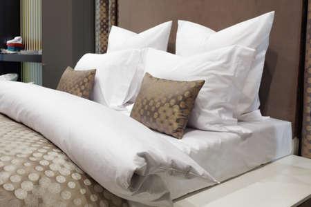 luxury modern style bedroom, Interior of a hotel bedroom Stock Photo