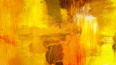 Abstract yellow red colorful textured hand painted background