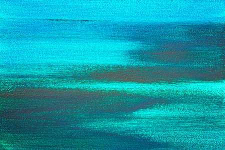 Textured abstract blue painting. Hand painted background.