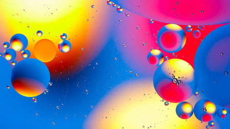 Space of bubbles balls abstraction background for web design and greeting cards Stock Photo