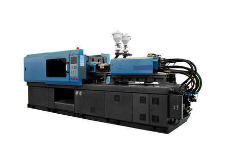 Production machine for manufacture products from pvc plastic extrusion technology Reklamní fotografie