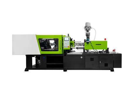 Production machine for manufacture products from pvc plastic extrusion technology Banque d'images