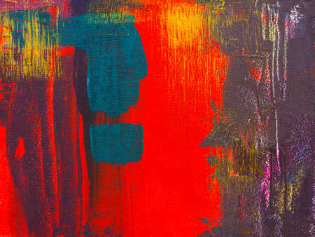 Abstract colorful textured hand painted background