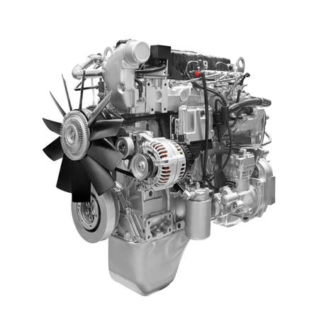 Car truck Engine on white background